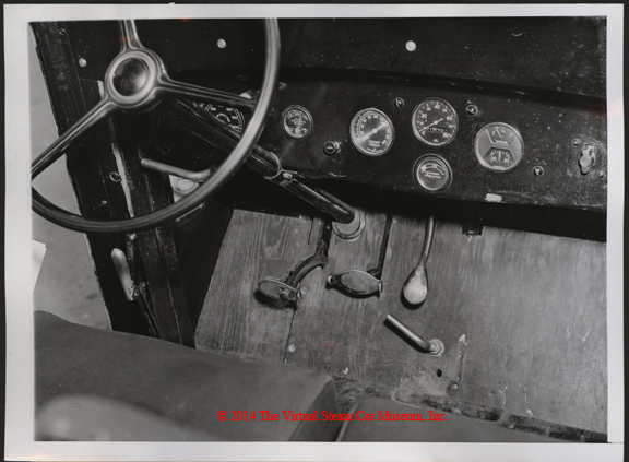 Steam Motors, Inc. Erik Delling, Newton, MA, June 1938, Steam Truck Dash Board, Front