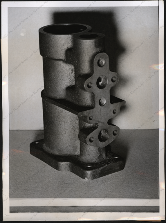 Steam Motors, Inc. Press Photograph, June 1, 1938, Cylinder Casting, Front