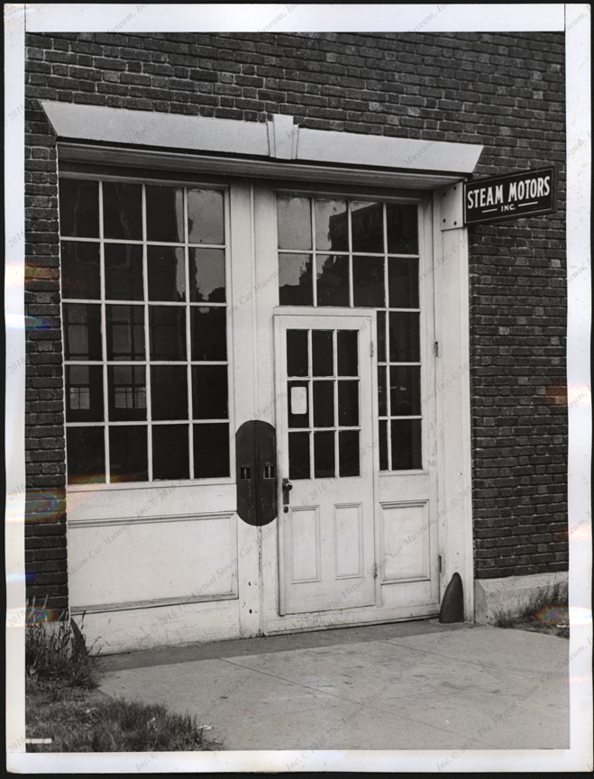Steam Motors, Inc. Press Photograph, June 1, 1938, Front Door, Front