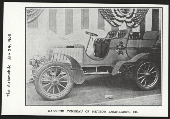 Meteor Engineering Company, Reading, PA, January 24, 1903, The Automobile, Meteor Steam Car, The Automobile
