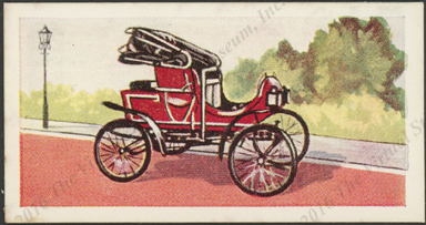 Steamobile Steam Car, 1900, London Confectioners Card, Front