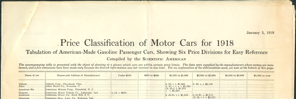 Steamotor Truck Company, January 5, 1918, Scientific American, Floyd Clymer Reprint, p. 1