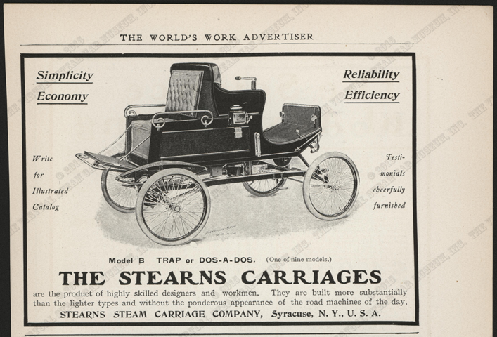 Stearns Stam Carriage Comany, ca: 1902, Worlds Work Magazine, Conde Collection