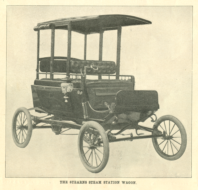 Stearns Steam Carriage Company, Scientific American Article, March 1902