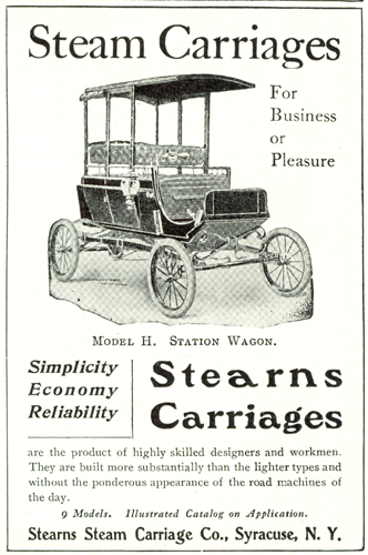 Stearns Steam Carriage Company, August 1902, Country  Life, p. LCCCVIII