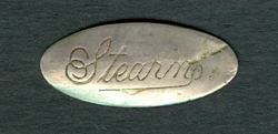 Stearns Steam Carriage Company lapel pin front