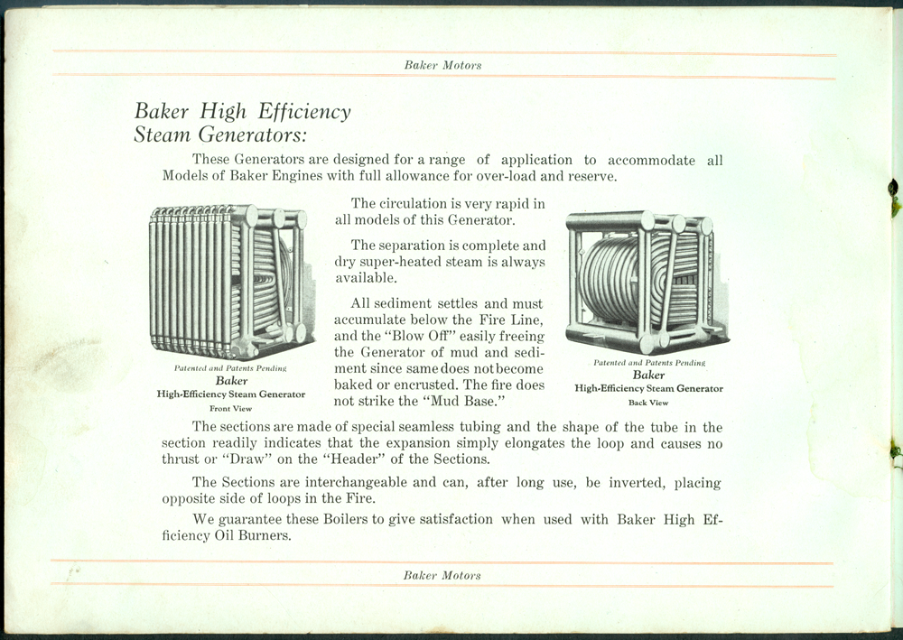 Baker Steam Unit Brochure