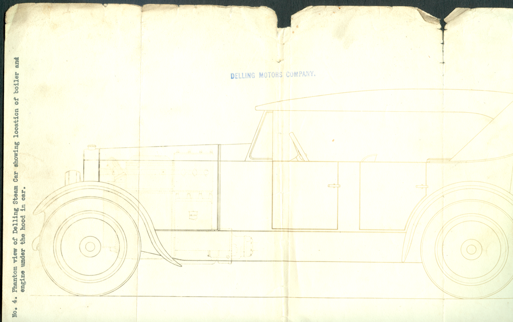 Delling Steam Car Drawing