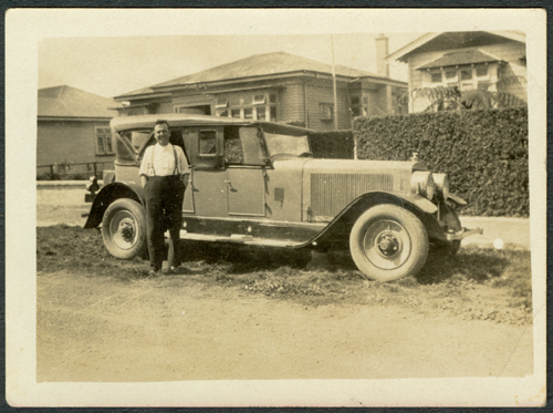 H. H. Stewart with Doble E13 at 24 Matai Road, Auckland