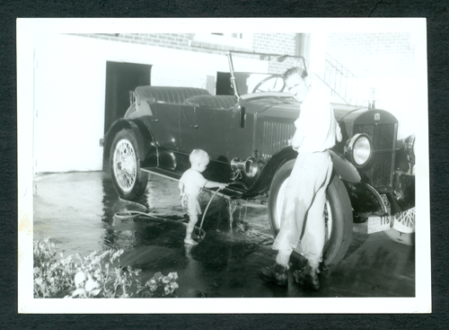Washing after Morrinsville Ralley Easter 1960