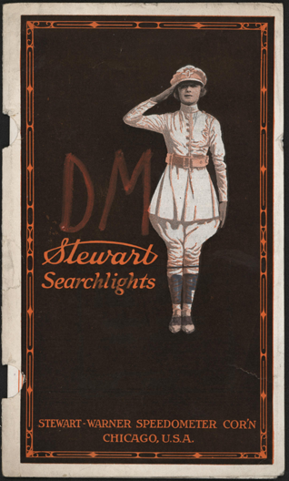 Stewart-Warner Speedometer Corporation, December 23, 1922, Searchlight Brochure, Cover