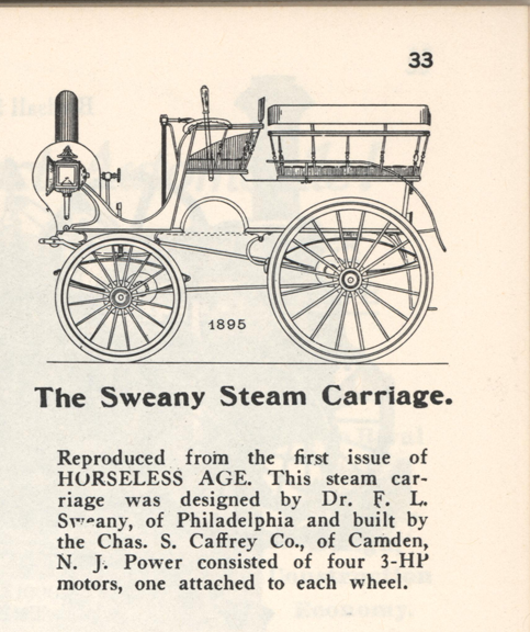Sweany Steam Carriage, Charles Caffrey