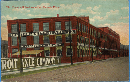 Timken_Detroit Axle Company Factory, postcard, front