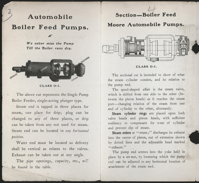Union Steam Pump Company, Battle Creek, MI, 1901 Trade Catalogue Brochure, P. 4 - 5