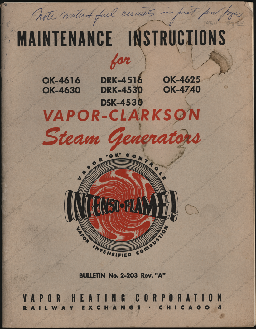 Vapor Heating Corporation Trade Catalogue, June 1950, Cover Page