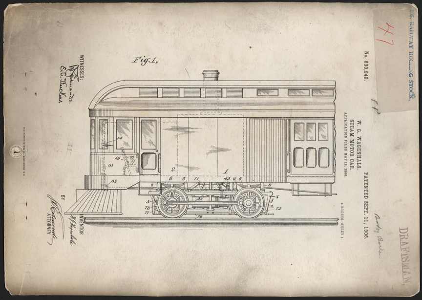 William G. Wagenhals Patent, 830,940, Steam Motor Car, May 18, 1906 September 11 1906