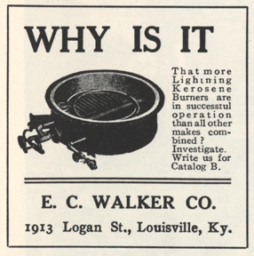 E. C. Walker Magazine Advertisement from Floyd Clymer steam car book, page 71
