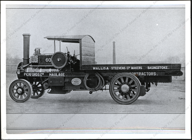 Wallis and Steevens Ltd. Steam Lorry, England