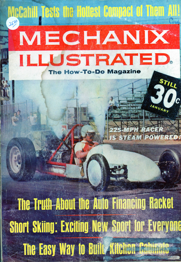 Mechanix Illustrated, Walters Steam Dragster, January 1964 page 74.