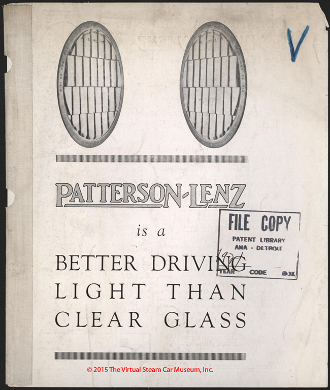 Warner-Patterson Company, Patterson Lenz, 1921 Advertising Brochure