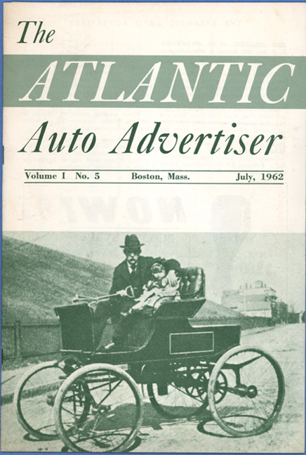 Whitney Motor Wagon Company Steam Car, The Atlantic Auto Advertiser, July, 1962