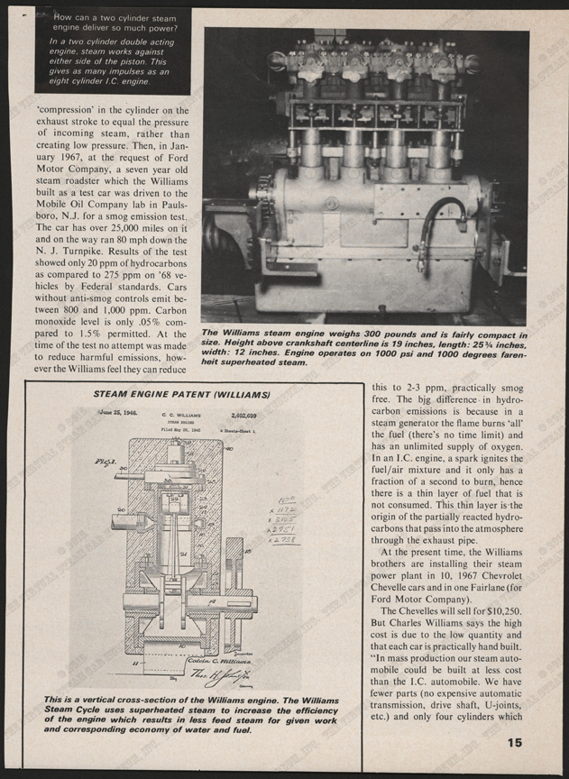 Williams Engine Company, October 1967, Roat Test Magazine, P. 15, Conde Collection.