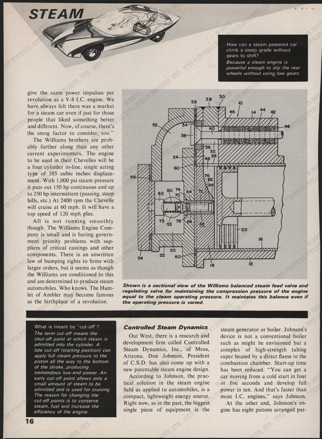 Williams Engine Company, October 1967, Roat Test Magazine, P. 16, Conde Collection.